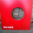 Bacardi Table Tops – Custom spray including text –Sway Nightclub
